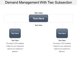Demand Management With Two Subsection