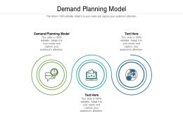 Demand Planning Model Ppt Powerpoint Presentation Model Background Images Cpb
