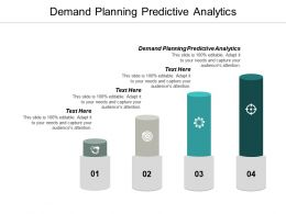 Demand Planning Predictive Analytics Ppt Powerpoint Presentation Ideas Deck Cpb
