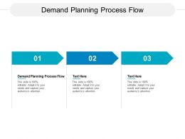 Demand Planning Process Flow Ppt Powerpoint Presentation Infographics Graphics Cpb
