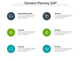 Demand Planning SAP Ppt Powerpoint Presentation Ideas Slide Cpb