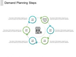 Demand Planning Steps Ppt Powerpoint Presentation Pictures Graphics Example Cpb