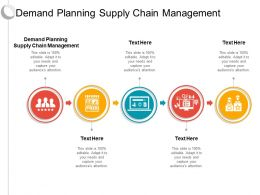Demand Planning Supply Chain Management Ppt Powerpoint Presentation Icon Grid Cpb