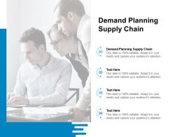 Demand Planning Supply Chain Ppt Powerpoint Presentation Ideas Styles Cpb