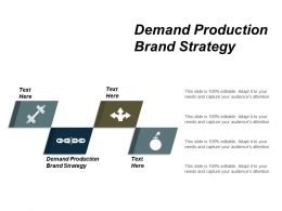 Demand Production Brand Strategy Ppt Powerpoint Presentation Model Information Cpb