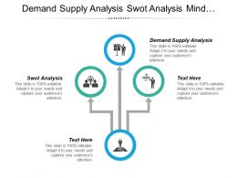 Demand Supply Analysis Swot Analysis Mind Mapping Leadership Development Cpb