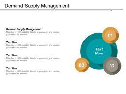 Demand Supply Management Ppt Powerpoint Presentation Infographic Template Guide Cpb