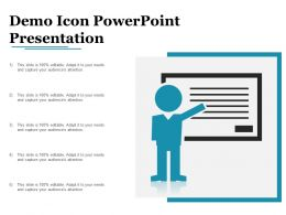 Demo Icon Powerpoint Presentation