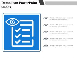 Demo Icon Powerpoint Slides