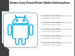 Demo Icon Powerpoint Slides Information