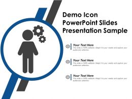 Demo Icon Powerpoint Slides Presentation Sample