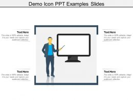 Demo Icon Ppt Examples Slides