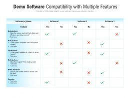 Demo Software Compatibility With Multiple Features