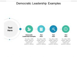 Democratic Leadership Examples Ppt Powerpoint Presentation Styles Format Cpb