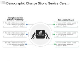 Demographic Change Strong Service Care Delivered Partnerships Resources Utilization