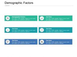 Demographic Factors Ppt Powerpoint Presentation Pictures Backgrounds Cpb