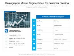 Demographic Market Segmentation For Customer Profiling