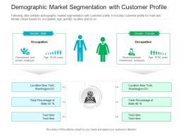 Demographic Market Segmentation With Customer Profile