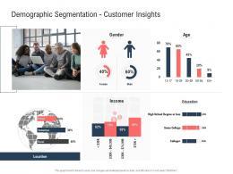 Demographic Segmentation Customer Insights Gender Ppt Powerpoint Presentation Gallery Examples
