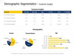 Demographic Segmentation Customer Insights Parental Status Ppt Powerpoint Presentation Diagrams