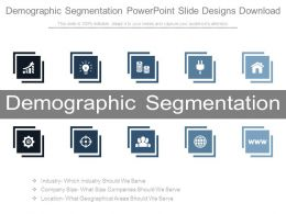 Demographic Segmentation Powerpoint Slide Designs Download