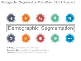 Demographic Segmentation Powerpoint Slide Influencers