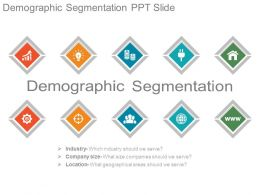 Demographic Segmentation Ppt Slide