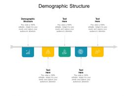 Demographic Structure Ppt Powerpoint Presentation Visual Aids Background Cpb