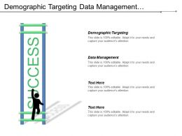 Demographic Targeting Data Management Techniques Development Performance Review Cpb