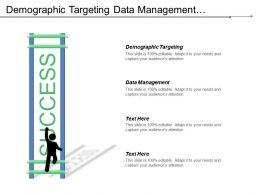Demographic Targeting Data Management Techniques Development Performance Review Cpb