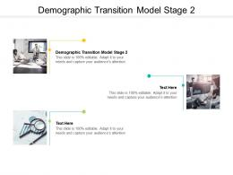 Demographic Transition Model Stage 2 Ppt PowerPoint Presentation Infographic Template Microsoft Cpb