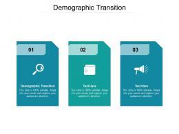 Demographic Transition Ppt Powerpoint Presentation Show Deck Cpb