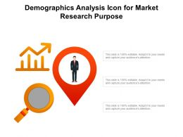 Demographics Analysis Icon For Market Research Purpose