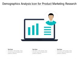 Demographics Analysis Icon For Product Marketing Research