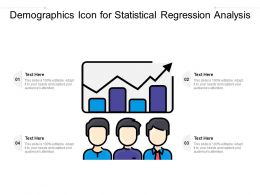 Demographics Icon For Statistical Regression Analysis