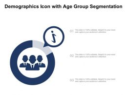 Demographics Icon With Age Group Segmentation