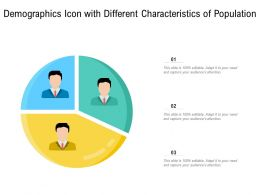 Demographics Icon With Different Characteristics Of Population