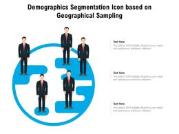 Demographics Segmentation Icon Based On Geographical Sampling