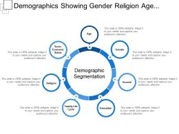 Demographics Showing Gender Religion Age Socio Economic Status