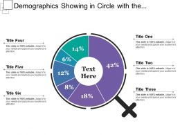 Demographics Showing In Circle With The Percentage
