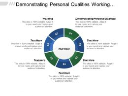 Demonstrating Personal Qualities Working Managing Services Setting Direction