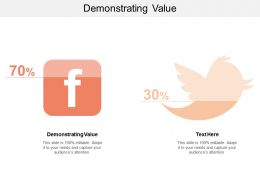 Demonstrating Value Ppt Powerpoint Presentation Outline Graphics Cpb