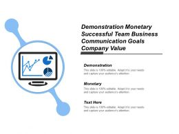 Demonstration Monetary Successful Team Business Communication Goals Company Value