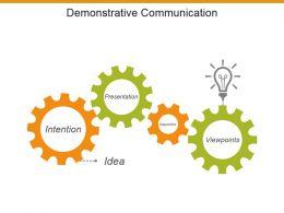 Demonstrative Communication Powerpoint Presentation Templates