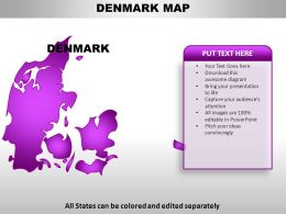 Denmark Country Powerpoint Maps