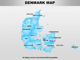 Denmark Powerpoint Maps