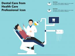 Dental Care From Health Care Professional Icon