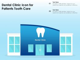 Dental Clinic Icon For Patients Tooth Care