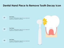 Dental Hand Piece To Remove Tooth Decay Icon