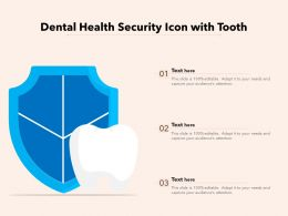 Dental Health Security Icon With Tooth